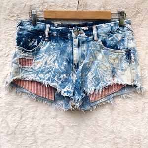 Free People Bleach Jean Denim Shorts
